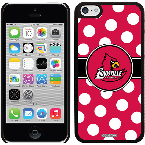 Coveroo University of Louisville Polka Dots Design Apple iPhone 5c Thinshield Snap-On Case