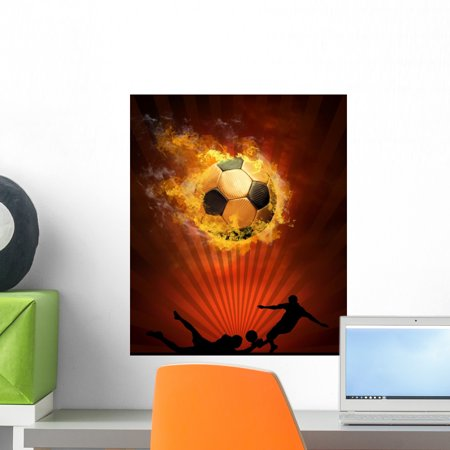Hot Soccer Ball Speed Wall Mural by Wallmonkeys Peel and Stick Graphic (18 in H x 14 in W) WM74673 29' Soccer Ball Mat