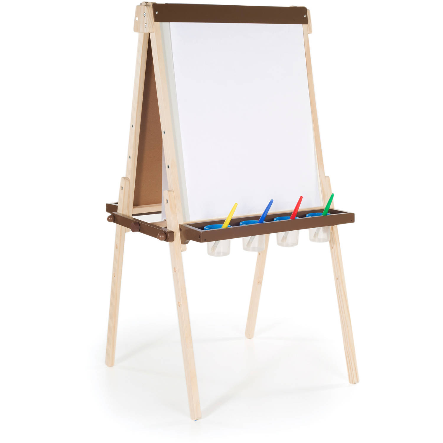 guidecraft deluxe double-sided floor easel - walmart