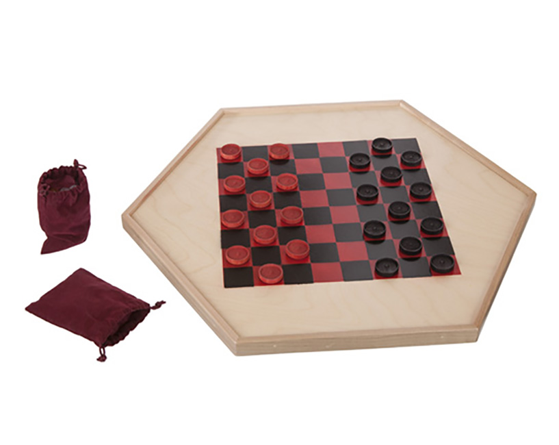 Reversible Chinese & American Checkers Gameboard by Furniture Barn USA