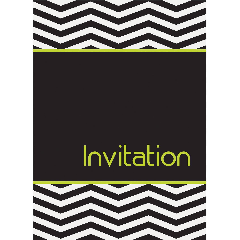 Designer Chevron Invitations, 8-Count
