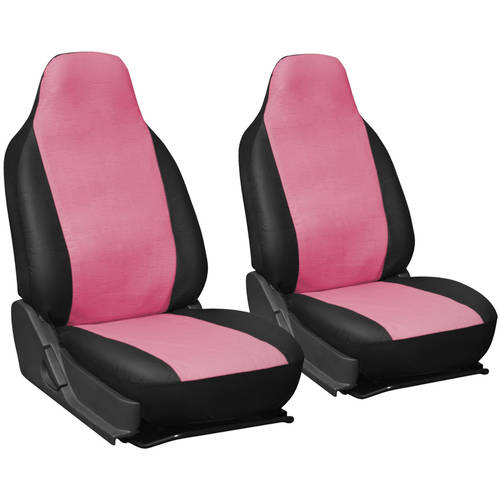 Oxgord 2-Piece Integrated Faux Leather Bucket Seat Covers, Universal Fit for Car/Truck/Van/SUV