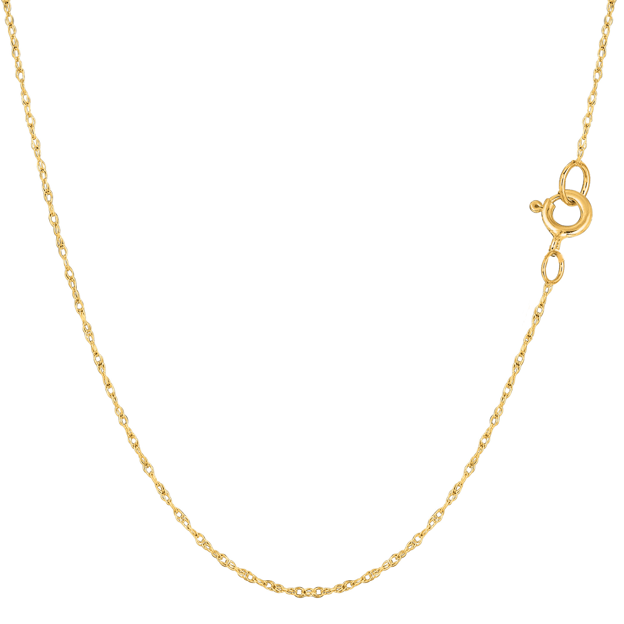 """14k Yellow Gold Rope Chain Necklace, 0.6mm, 20"""" - image 1 de 1"""
