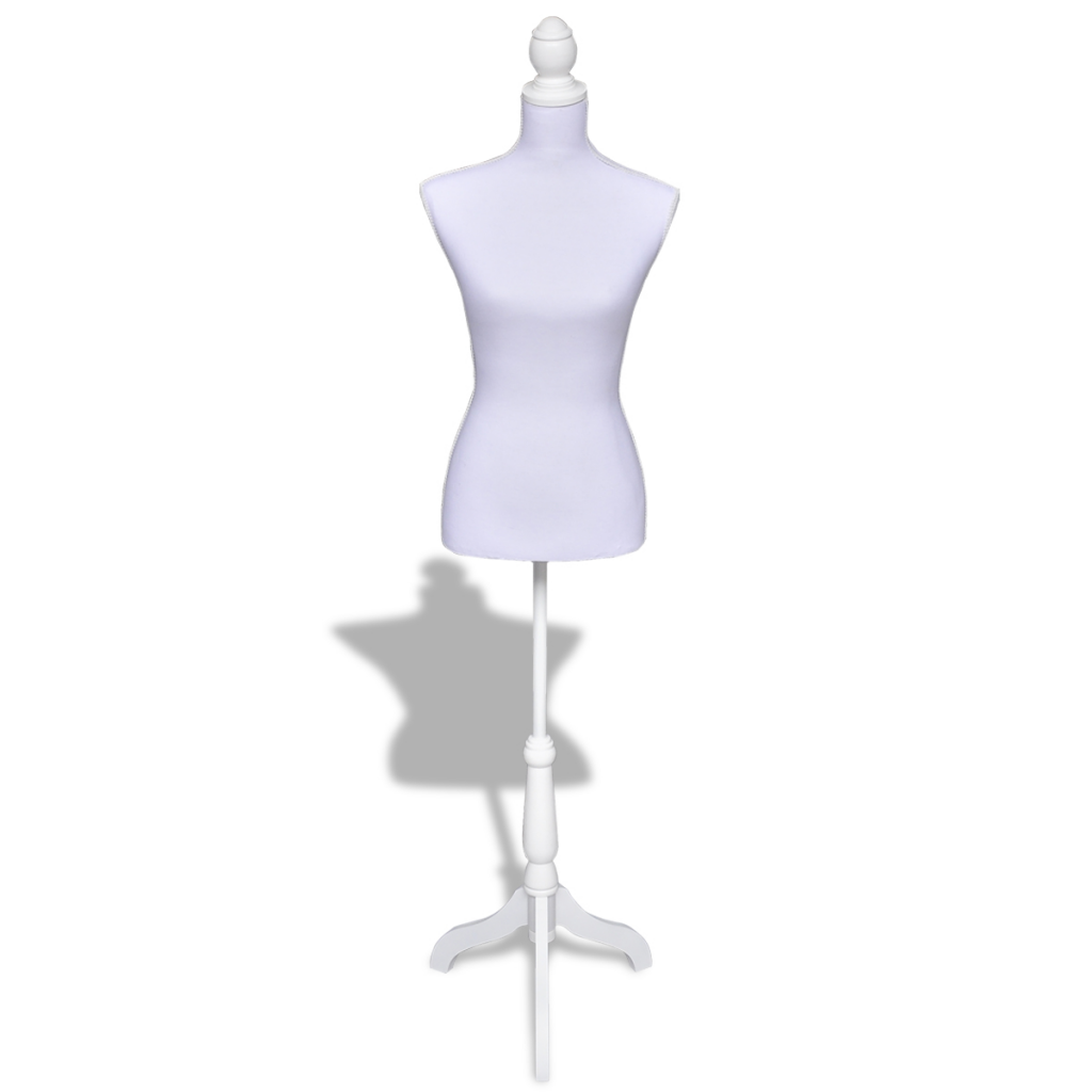 Female Mannequin Ladies Bust Display - White