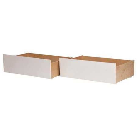 Atlantic Furniture Urban Twin Full Bed Drawer in White (Set of 2)