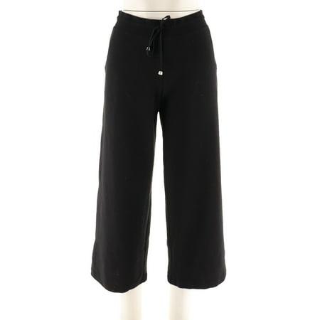 Denim Co Active Petite Waffle Knit Wide Leg Pants