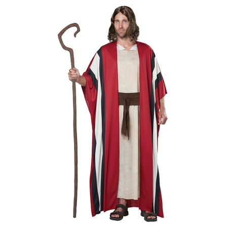 California Costumes Men's Shepherd Moses Adult Costume, Red/Tan, Small/Medium - Easy Shepherd Costume