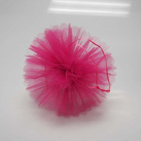 Tulle Pom Poms Ball Centerpiece, 4-Piece, 10-Inch, Fuchsia](Military Ball Centerpieces)