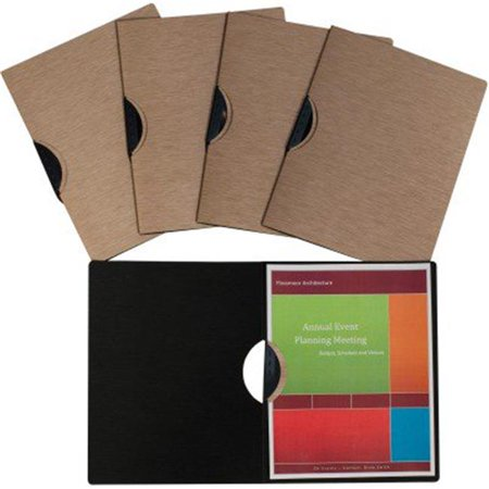 C-Line Products 33316 8.5 x 11 in. Modern Metallic Executive Style Report Cover - Bronze, 5 Per Pack