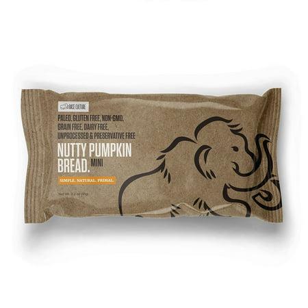 (2 Pack) Base Culture Paleo Friendly Mini Nutty Pumpkin Bread