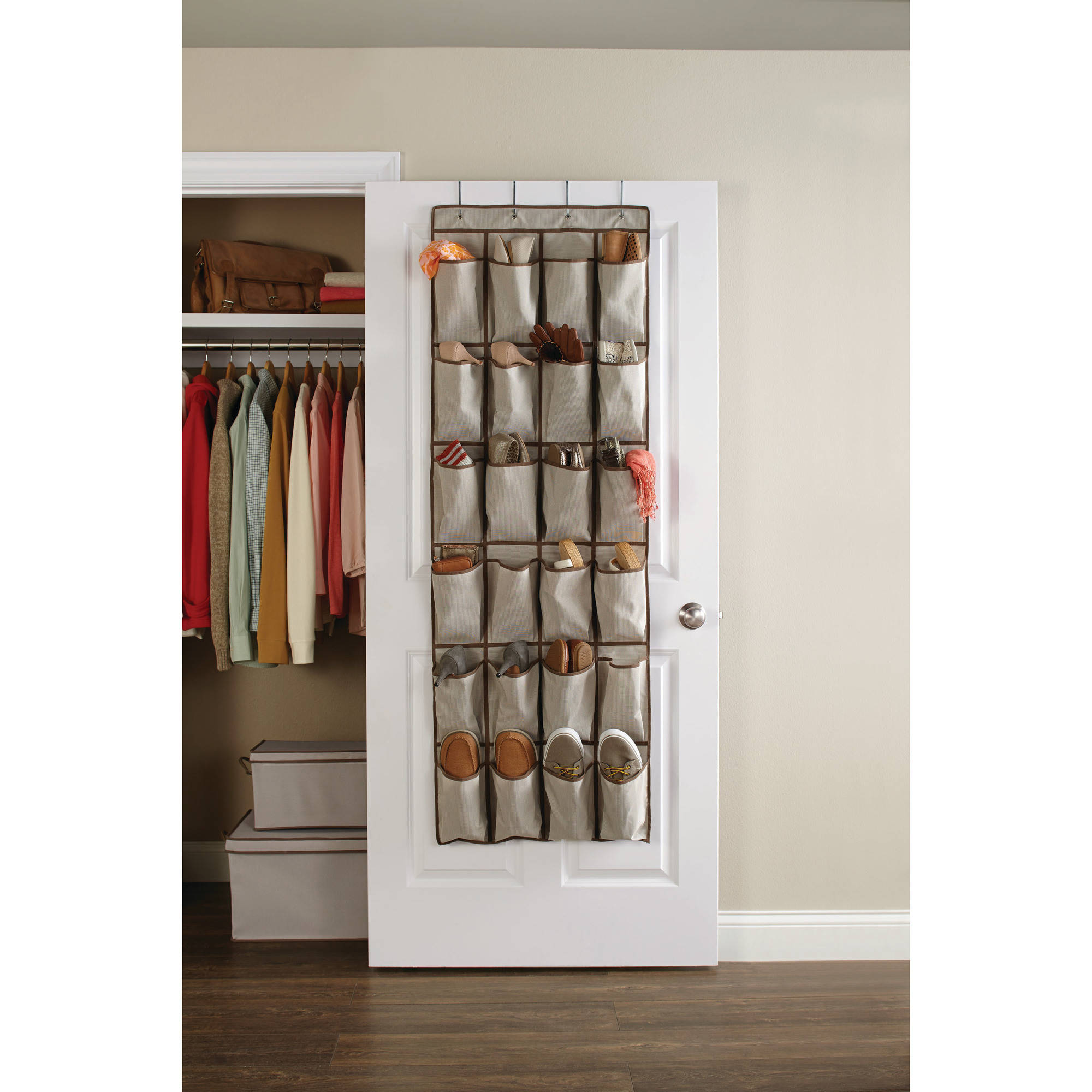 Good Better Homes And Gardens 24 Pocket Over The Door Shoe Organizer