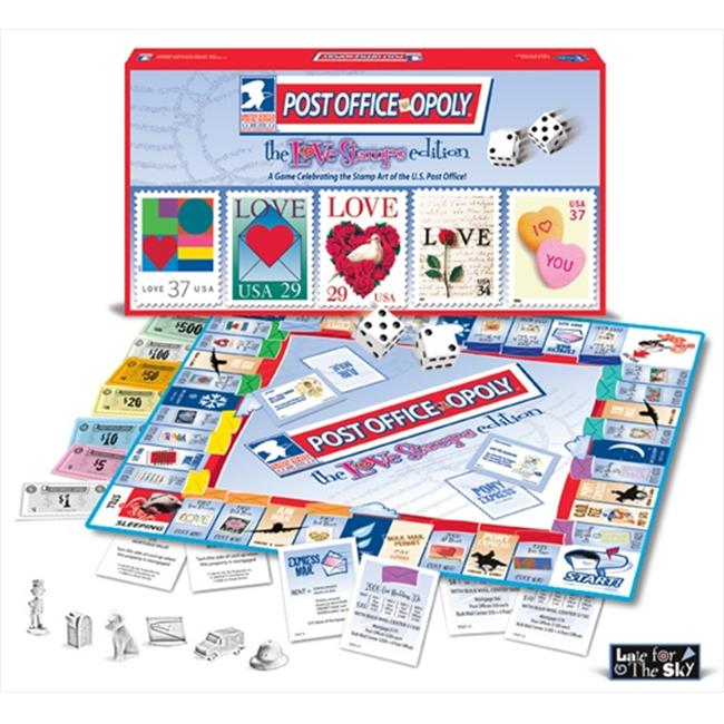 Late for the Sky Post Office-Opoly Love Stamps Edition Board Game