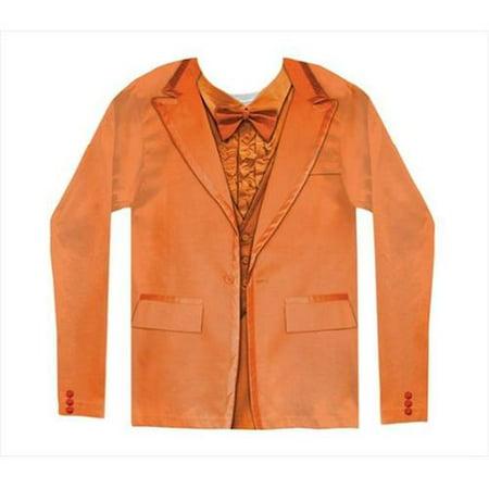 Faux Orange Tuxedo Costume T-Shirt Adult Medium