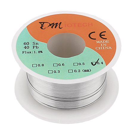 DMiotech 0.4mm 35G 60/40 Rosin Core Tin  Roll Soldering Solder Wire Spool](rosin core solder for electronics)