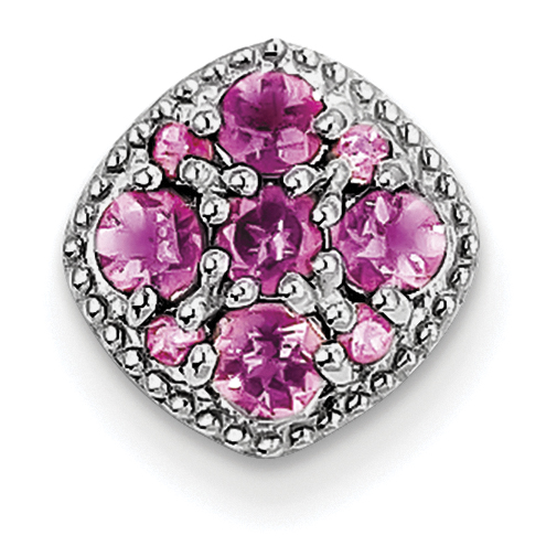 Roy Rose Jewelry Sterling Silver Pink Tourmaline Pendant Slide by