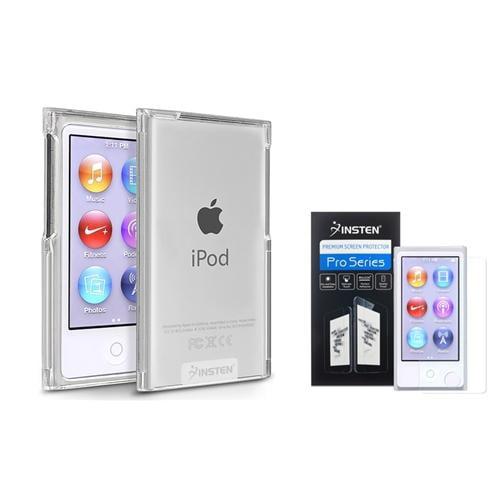 Insten Color Hard Plastic Skin Case Cover For iPod Nano 7 7G 7th Gen+Diamond LCD Film