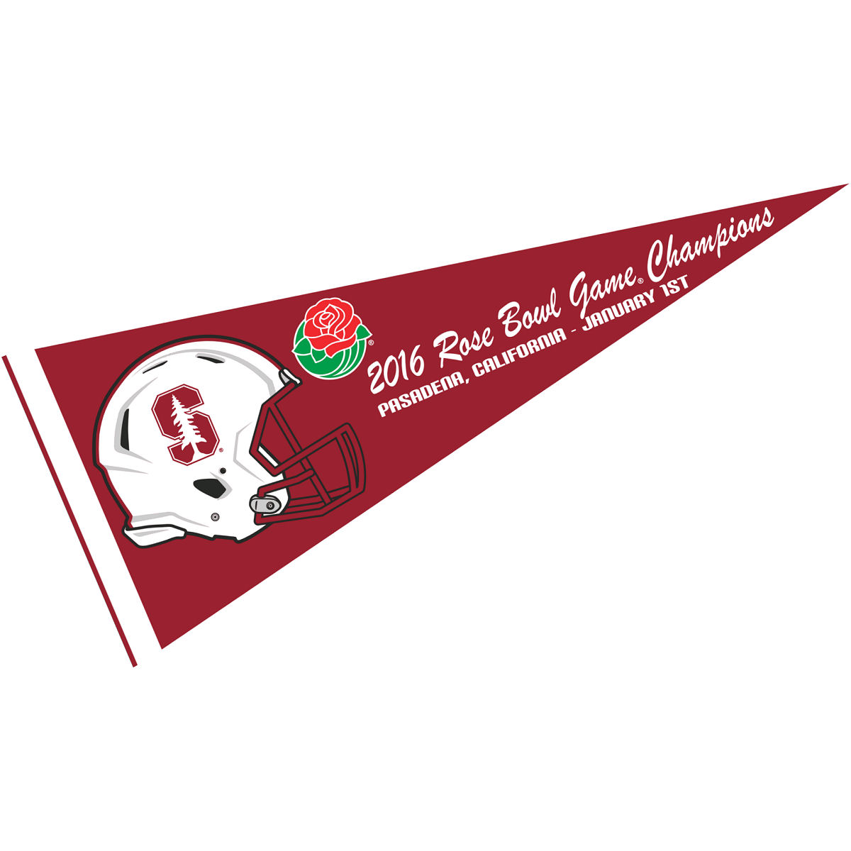 """Stanford Cardinal 2015 Rose Bowl Champs 12"""" X 30"""" Felt College Pennant"""