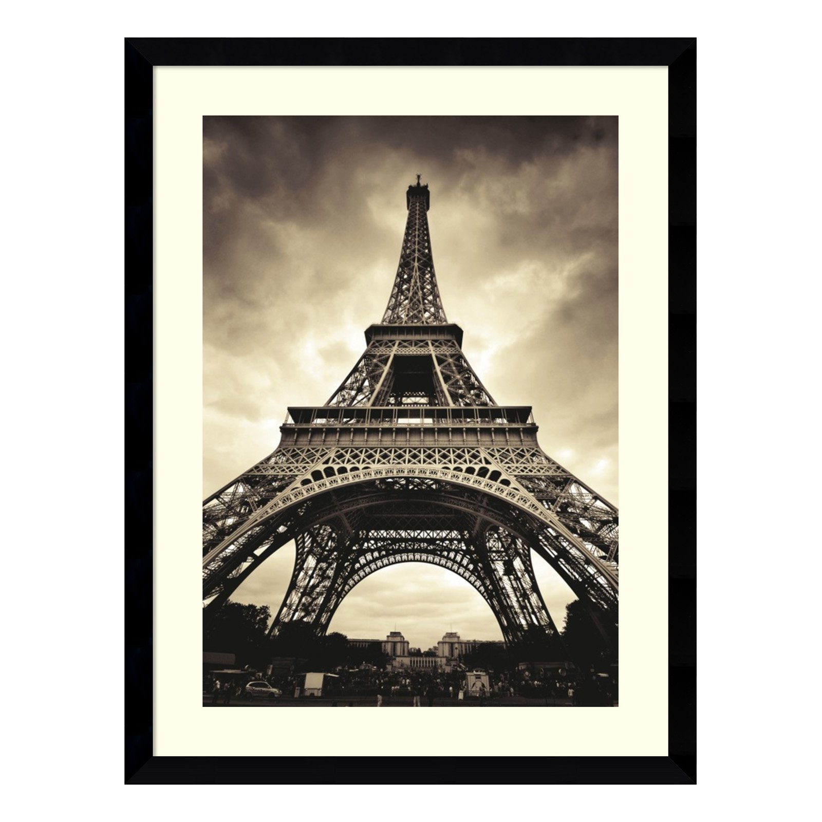 Eiffel Tower Framed Wall Art - 32.62W x 42.62H in.