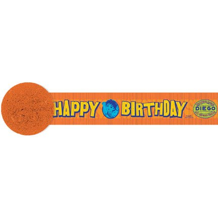 Go Diego Go! 'Biggest Rescue' Crepe Paper Streamer (1ct) (Go Diego Go Party Supplies)