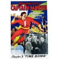 The Adventures Of Captain Marvel Chapter 3 Time Bomb Center Tom Tyler Inset Photo From Left Louise Currie William Benedict Frank Coghlan Jr 1941 Movie Poster Masterprint