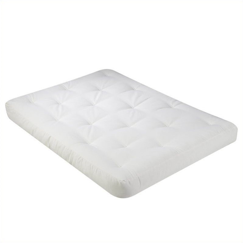 Wolf USF-4 8 Inch Futon Mattress with 2.5 Inch Finger Foam in Natural-Queen