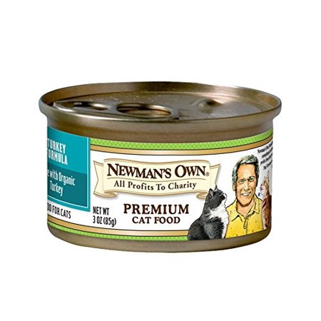 Newman's Own Organics Turkey Formula for Cats, 3 Ounce Cans