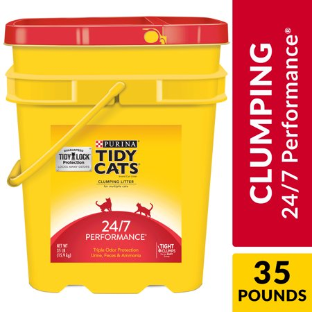 Purina Tidy Cats Clumping Cat Litter, 24/7 Performance Multi Cat Litter, 35 lb. Pail