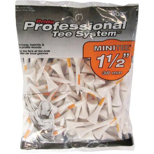 "Pride Professional 1-1/2"" 90ct White Tees"