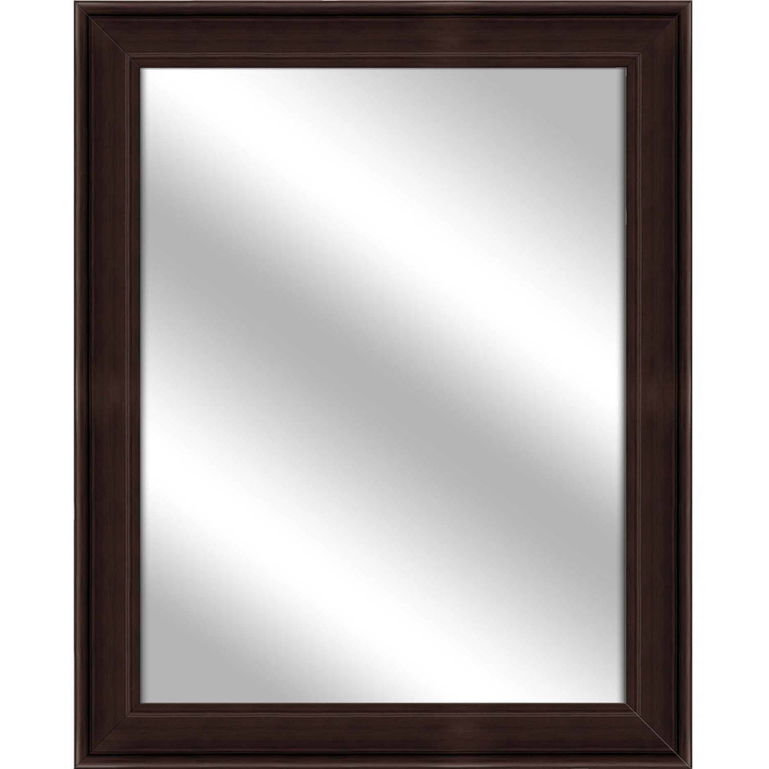 Vanity Mirror, Brown, 26.75x32.75 by PTM Images