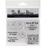 """Twp Paper Divas Clear Stamps 6""""X4.5""""-Just Donuts"""