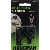 "Double Headed Bearclaw Hanger, 1.25"", 10pk, Black"
