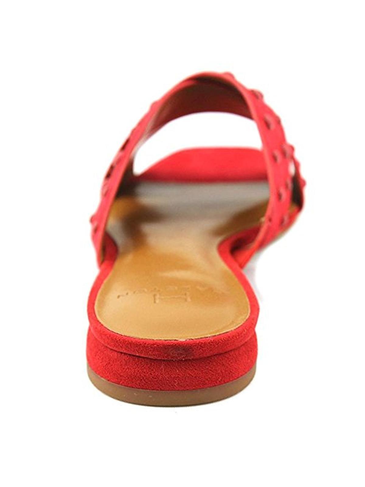 B,M H Halston Womens Nora Dress Square Toe Slide Sandals Pink 6.5 Medium