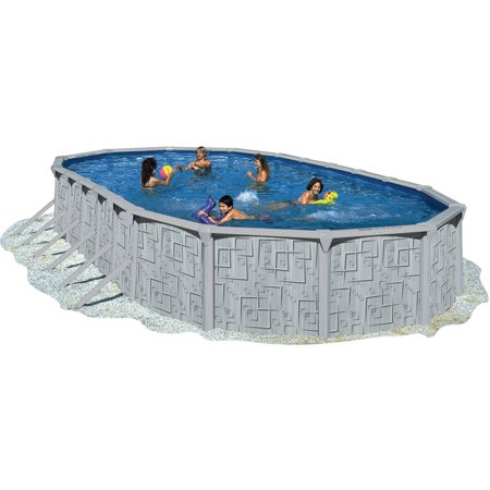 Heritage 33 39 x 18 39 x 52 illusion steel wall above ground - Above ground swimming pools walmart ...