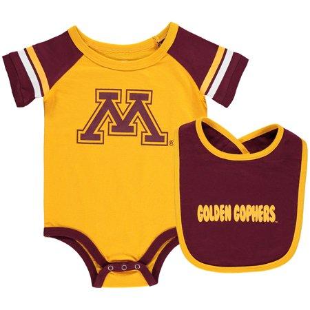 Minnesota Golden Gophers Colosseum Newborn & Infant Roll-Out Bodysuit & Bib Set - (Minnesota Golden Gophers Set)