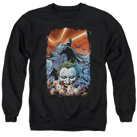 BATMAN/DETECTIVE COMICS #1 - ADULT CREWNECK SWEATSHIRT - BLACK - 2X