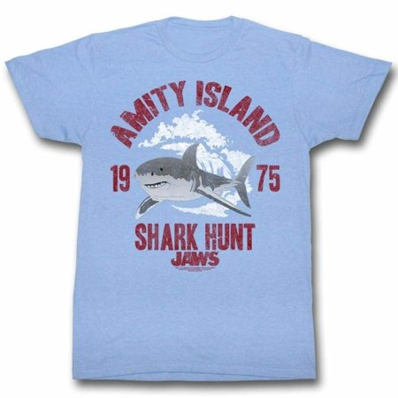 Jaws Movies Shark Hunt Adult Short Sleeve T Shirt ()