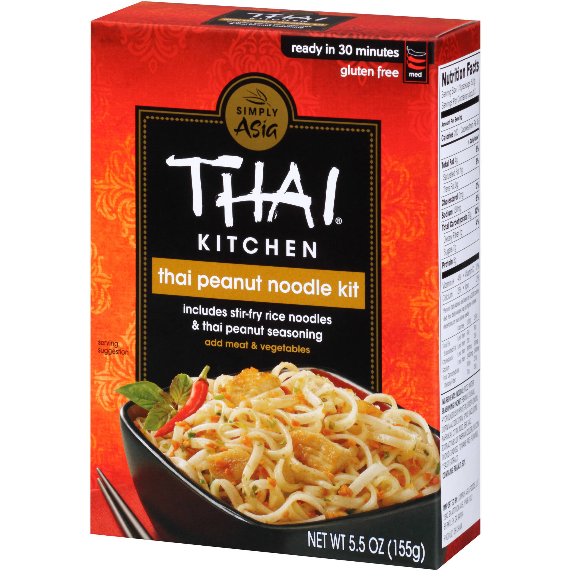 Thai Kitchen Noodles Thai Kitchen Gluten Free Thai Peanut Stir Fry Noodles 5.5 Oz