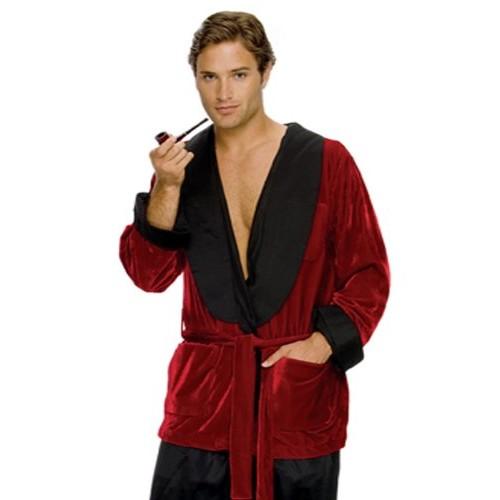 Hugh Hefner Smoking Halloween Jacket Costume