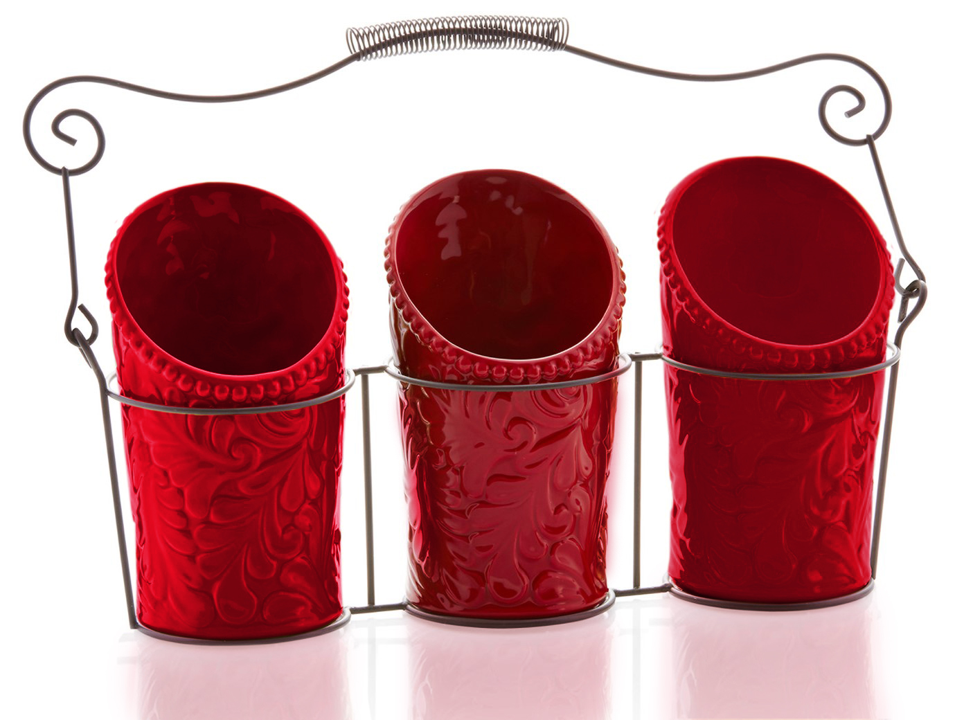 Amazing Kitchen Utensil Holder Set   Red