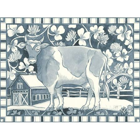Farm Life II Stripe Border Poster Print by Miranda Thomas