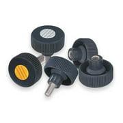 """KIPP Knurled Wheel 1.22""""L, 1/4-20 Internal Thread, K0261.21A2"""