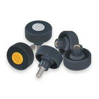 """KIPP Knurled Wheel 0.78""""L, M10 External Thread, K0261.5310X20"""