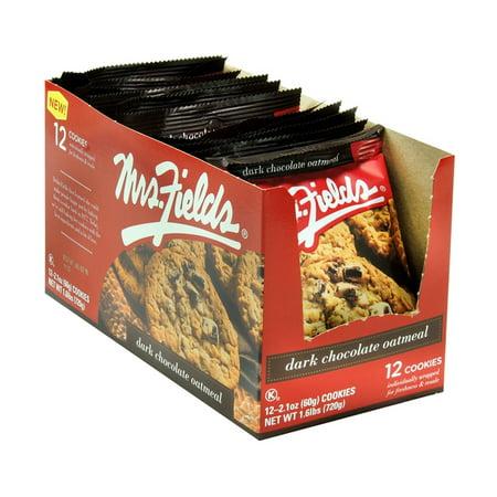 Product Of Mrs Fields, Dark Chocolate Oatmeal, Count 12 - Cookie & Cracker / Grab Varieties & Flavors