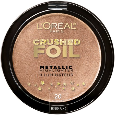L'Oreal Paris Crushed Foils Metallic Highlighter, Gilded Gold ()