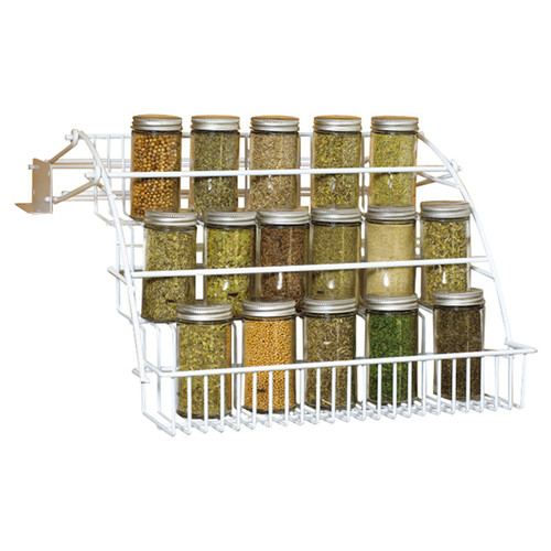 Rubbermaid FG8020RDWHT Spice Rack  sc 1 st  Walmart : rubbermaid pull down cabinet spice rack - Cheerinfomania.Com