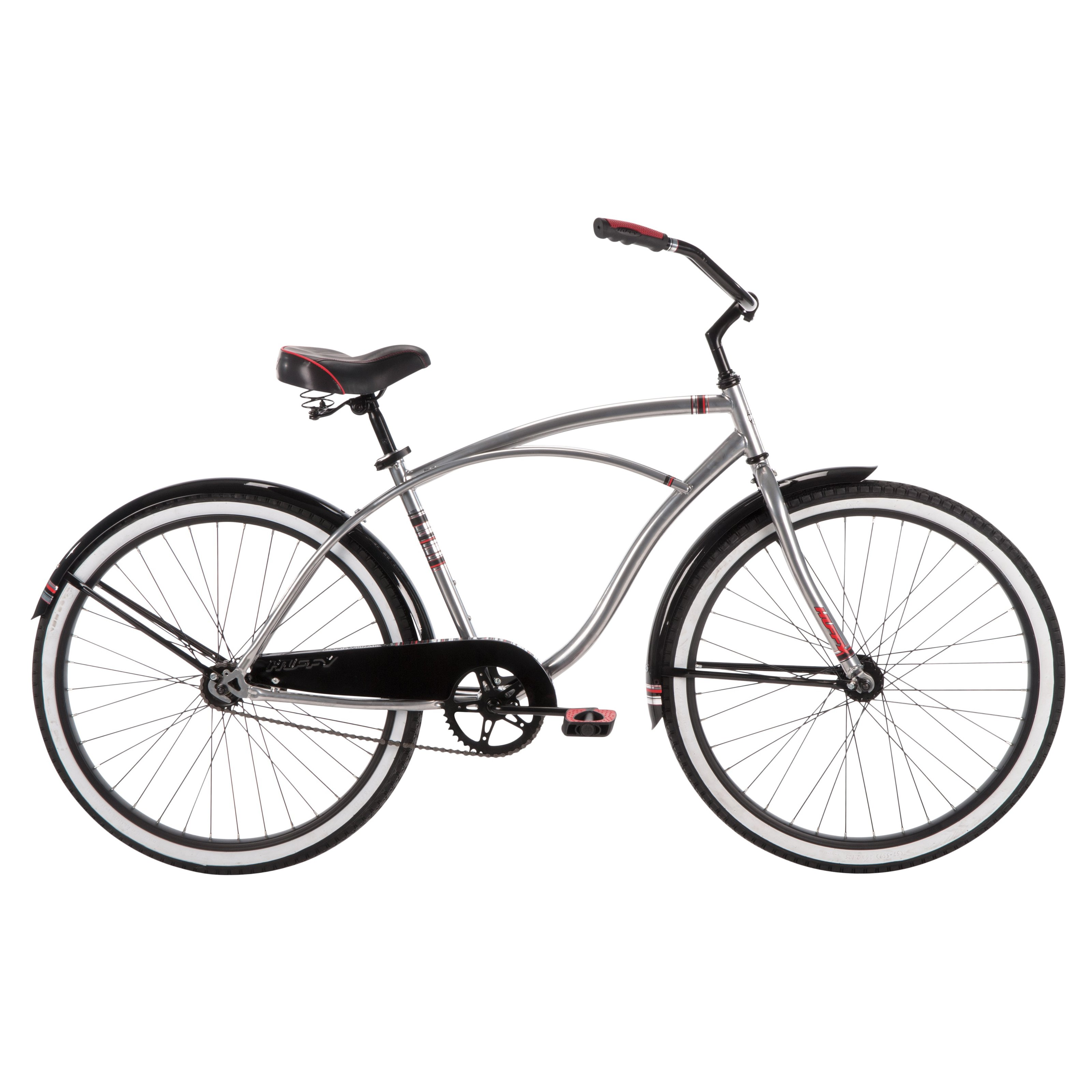 Huffy Good Vibration 26 in. Classic Cruiser Silver by Huffy Bicycles