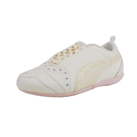 Puma Sela Diamond Shoes Kid/Youth Girls Off White/Pink Sneakers