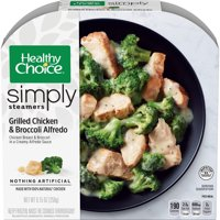 Healthy Choice Simply Steamers Frozen Dinner Grilled Chicken & Broccoli Alfredo 9.15 Ounce