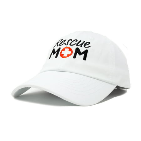 3ca0fd399cd771 DALIX - DALIX Rescue Mom Womens Baseball Cap Dad Hat in White ...