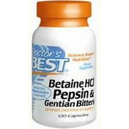 - Betaine HCl Pepsin & Gentian Bitters Doctors Best 120 Caps